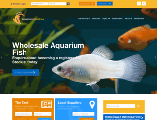 aquariumindustries.com.au screenshot