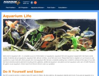 aquariumlife.net screenshot