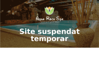 aquarockspa.ro screenshot