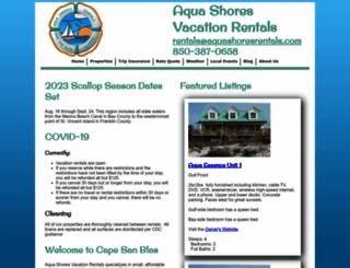 aquashoresrentals.com screenshot