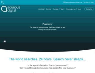 aqueous-seo.co.uk screenshot
