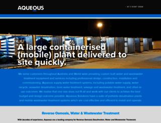 aqueous.com.au screenshot