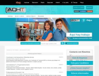 aquihaytrabajo.rtve.es screenshot