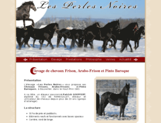 arabofrisonsetpercheronsnoirs.com screenshot