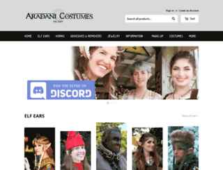 aradanicostumes.com screenshot