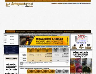 arany-arfolyam.hu screenshot
