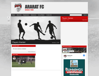 araratfc.com.au screenshot