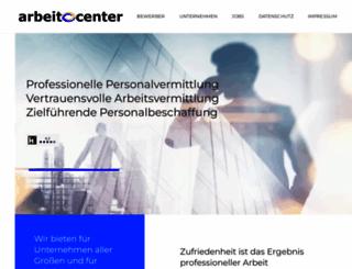 arbeit.center screenshot