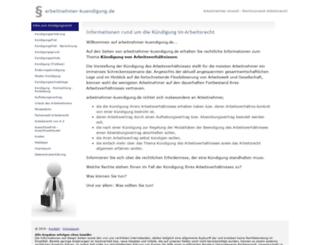 arbeitnehmer-kuendigung.de screenshot