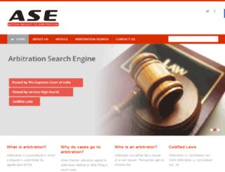 arbitrationsearchengine.com screenshot