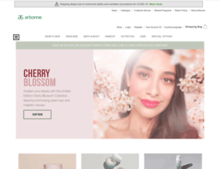 arbonne.com screenshot