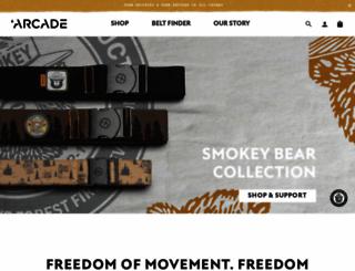 arcadebelts.com screenshot