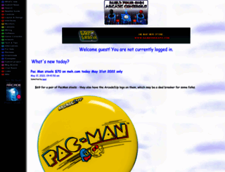 arcadecontrols.com screenshot