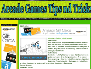 arcadegamestipsndtricks.com screenshot