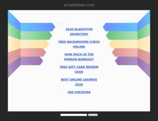 arcadetitan.com screenshot
