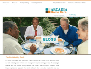 arcadiahealthcareblog.com screenshot