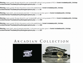 arcadiancollection.com screenshot