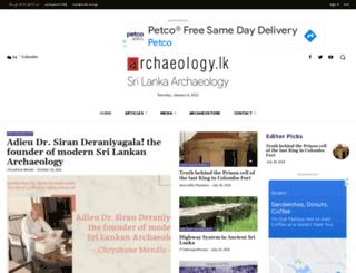 archaeology.lk screenshot