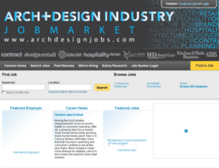 archdesignjobs.com screenshot
