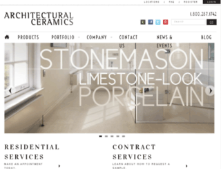 architecturalceramics.bfmdev1.com screenshot