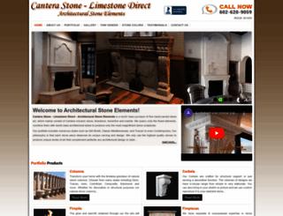 architecturalstoneelements.com screenshot