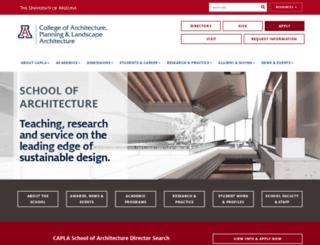architecture.arizona.edu screenshot