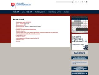 archiv.vlada.gov.sk screenshot