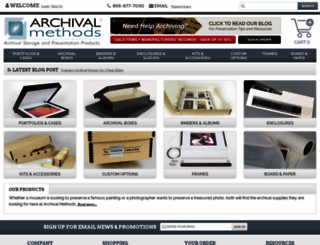 archivalmethods.com screenshot