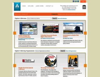 archive-it.org screenshot