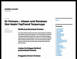 archive-nz.com screenshot