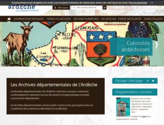 archives.ardeche.fr screenshot