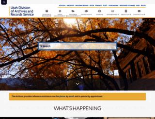 archives.utah.gov screenshot