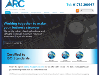 arcitsolutions.co.uk screenshot