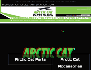 arcticcatpartsnation.com screenshot