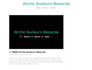 arcticsunburn.com screenshot