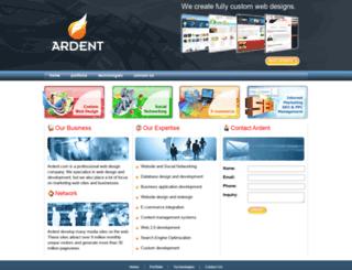 ardent.com screenshot