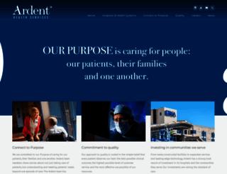 ardenthealth.com screenshot