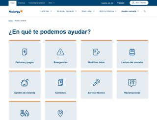 areaclientes.gasnaturalfenosa.es screenshot