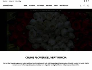 arenaflowers.co.in screenshot
