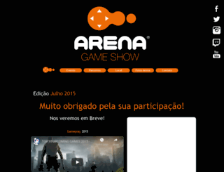 arenagameshow.com.br screenshot