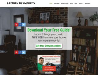 areturntosimplicity.com screenshot
