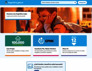argentina.gov.ar screenshot