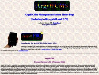 argyllcms.com screenshot