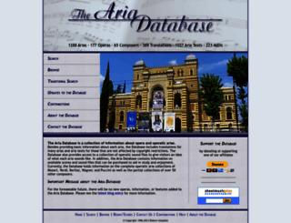 aria-database.com screenshot