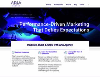 ariaagency.com screenshot