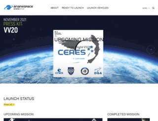 arianespace.com screenshot
