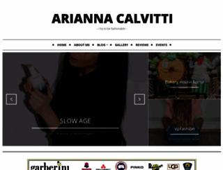 ariannacalvitti.com screenshot