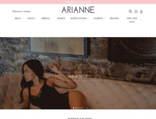 ariannelingerie.com.au screenshot