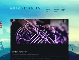 ariasounds.com screenshot