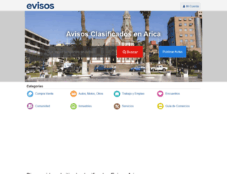 arica.evisos.cl screenshot